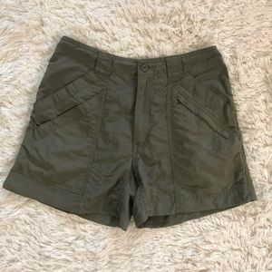 Royal Robbins green hiking shorts